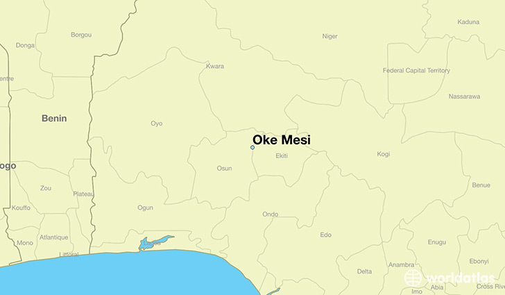 map showing the location of Oke Mesi