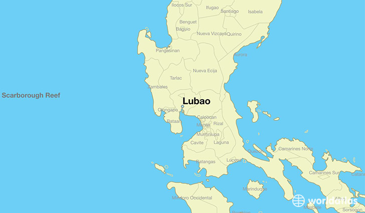 map showing the location of Lubao