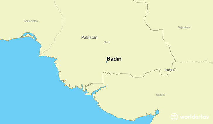 map showing the location of Badin
