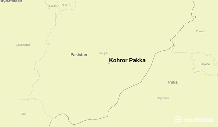map showing the location of Kohror Pakka