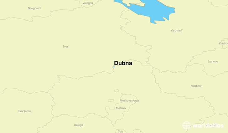 map showing the location of Dubna