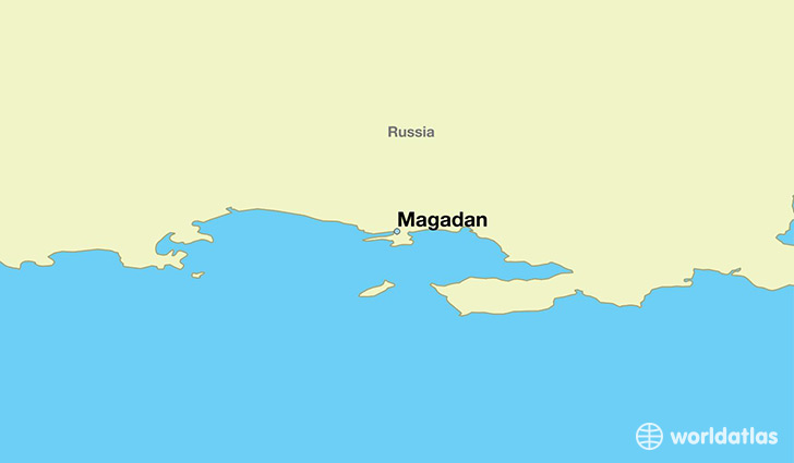 map showing the location of Magadan