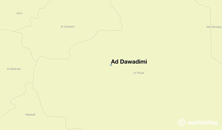 map showing the location of Ad Dawadimi