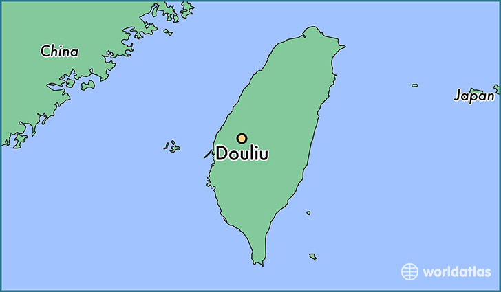 map showing the location of Douliu