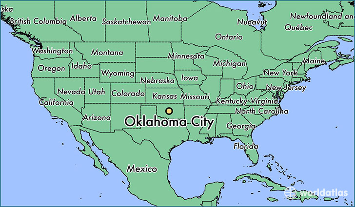 Where Is Oklahoma City Ok Map: State Map Of Oklahoma With Cities At Slyspyder.com