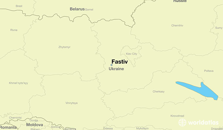 map showing the location of Fastiv