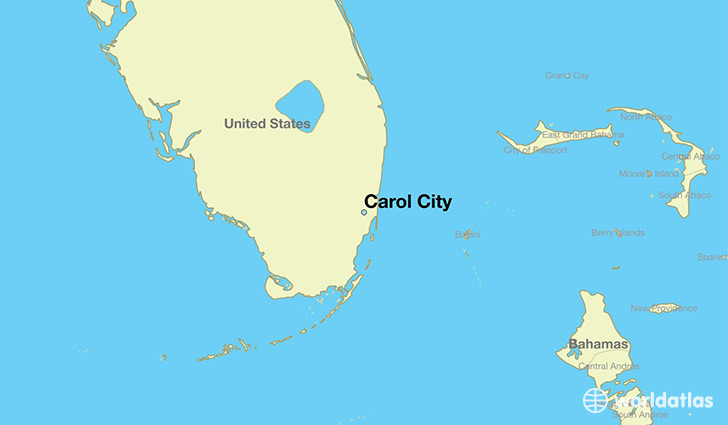 map showing the location of Carol City