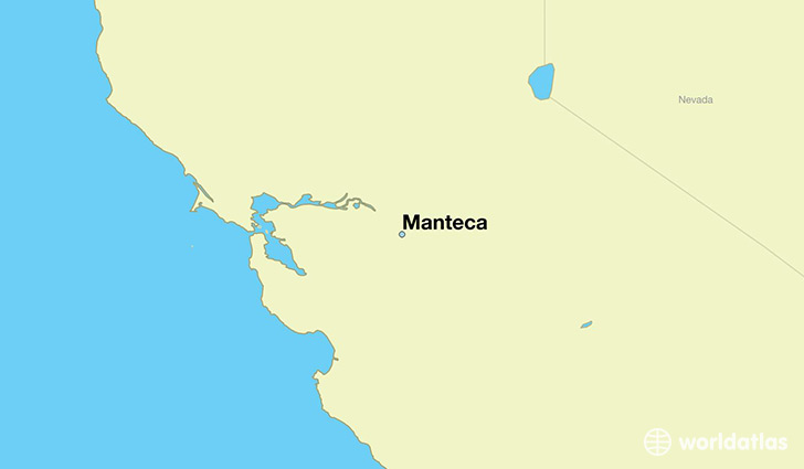 map showing the location of Manteca