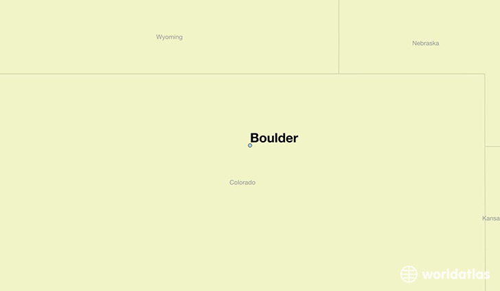 map showing the location of Boulder
