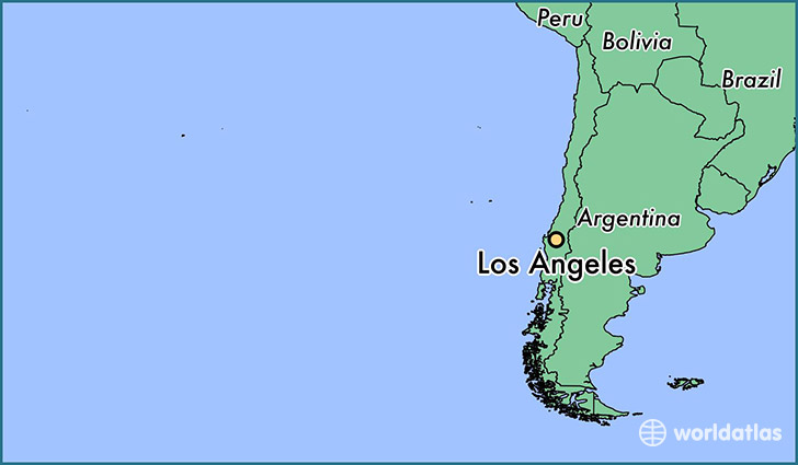 map showing the location of Los Angeles