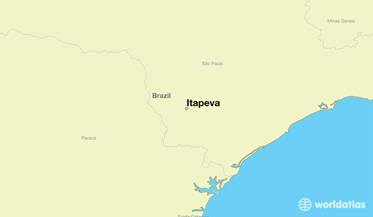 map showing the location of Itapeva