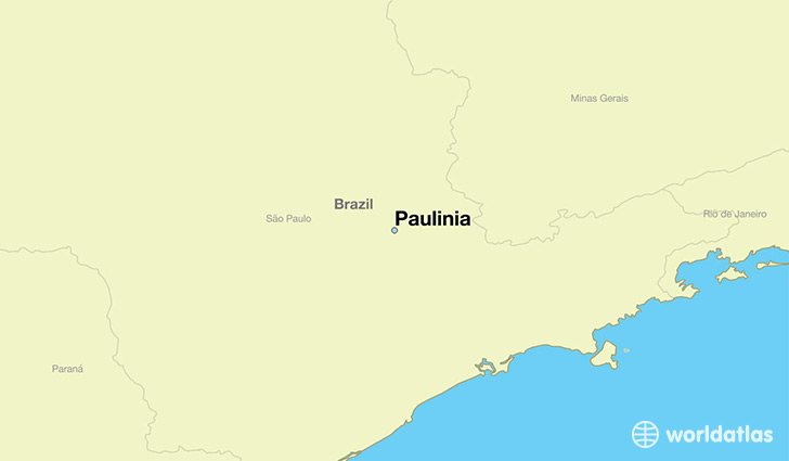 map showing the location of Paulinia