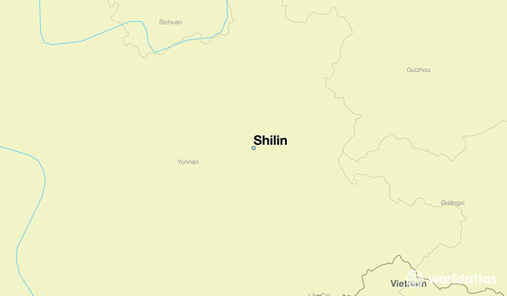 map showing the location of Shilin