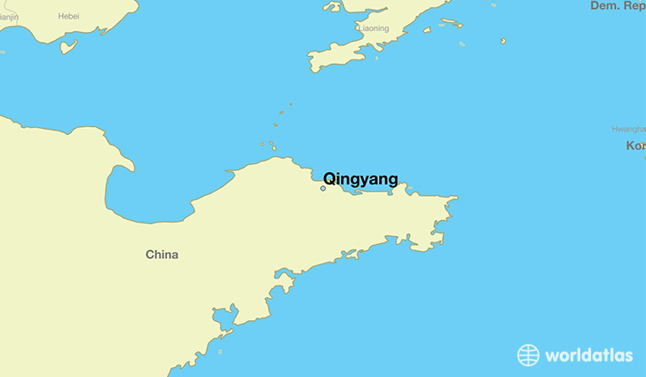map showing the location of Qingyang