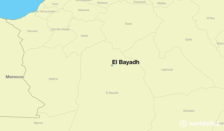 map showing the location of El Bayadh