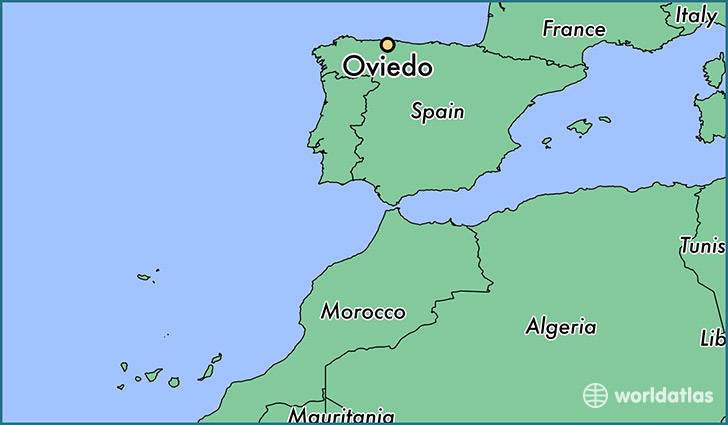map showing the location of Oviedo