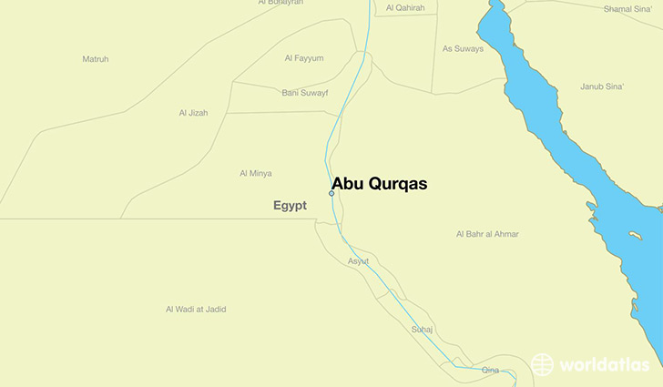 map showing the location of Abu Qurqas