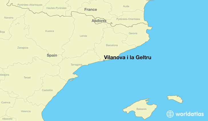 map showing the location of Vilanova i la Geltru