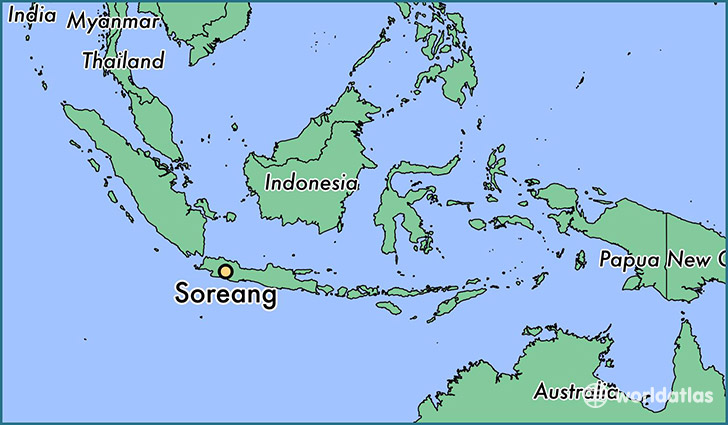 map showing the location of Soreang