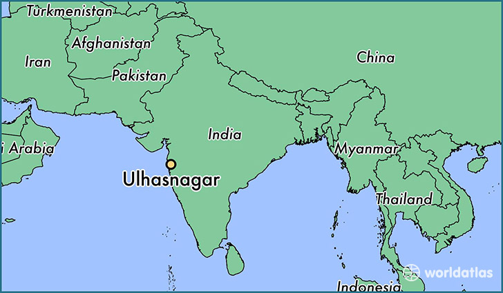 map showing the location of Ulhasnagar