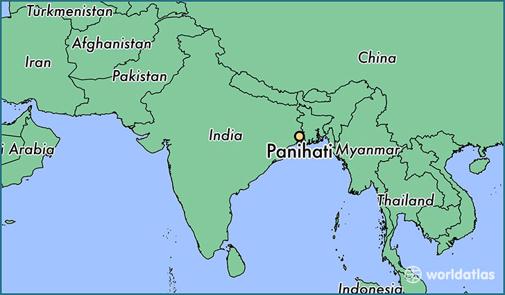 map showing the location of Panihati