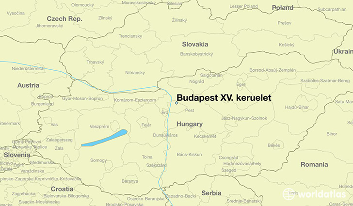 map showing the location of Budapest XV. keruelet