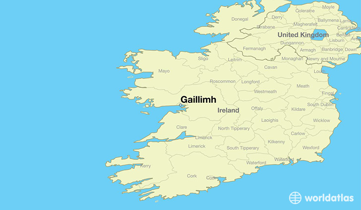map showing the location of Gaillimh