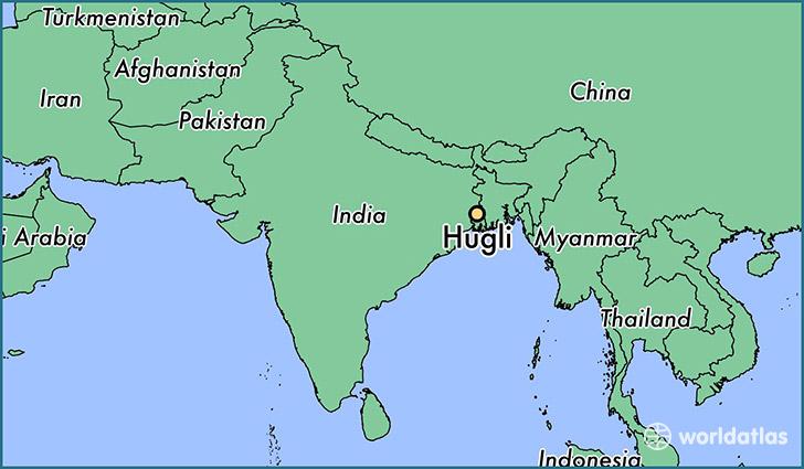 where is hugli  india     hugli  west bengal map