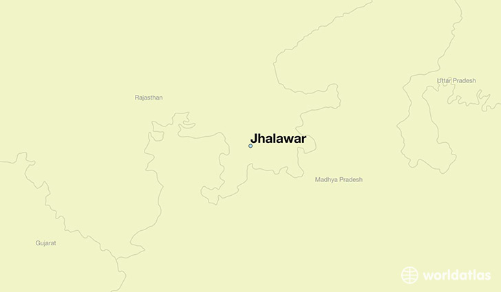 map showing the location of Jhalawar