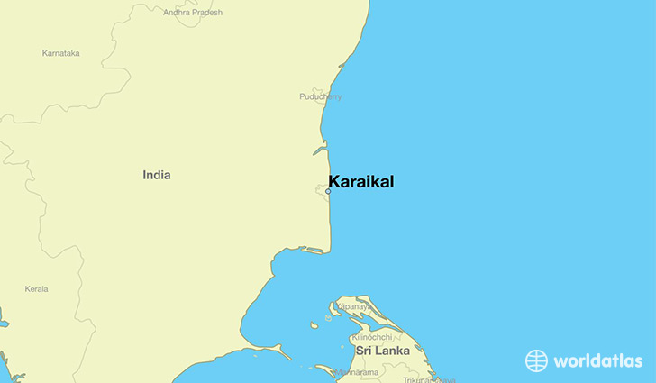 map showing the location of Karaikal