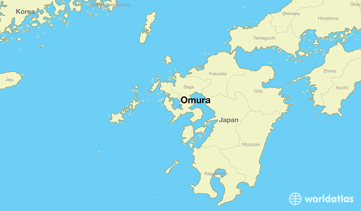 Nagasaki On World Map.Where Is Omura Japan Omura Nagasaki Map Worldatlas Com
