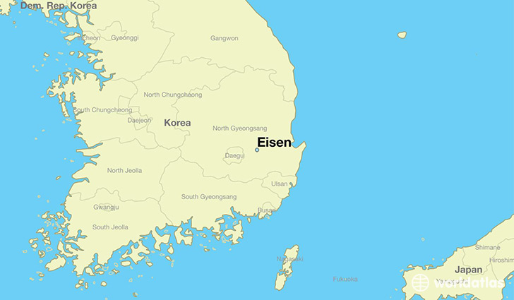 map showing the location of Eisen
