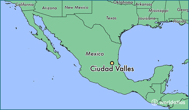 map showing the location of Ciudad Valles