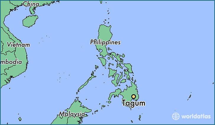 map showing the location of Tagum
