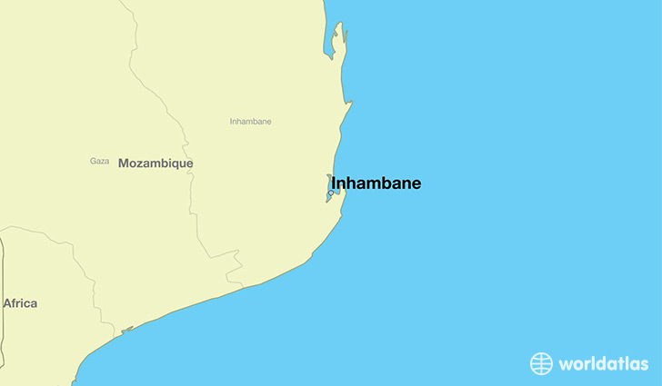 map showing the location of Inhambane
