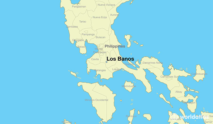 map showing the location of Los Banos