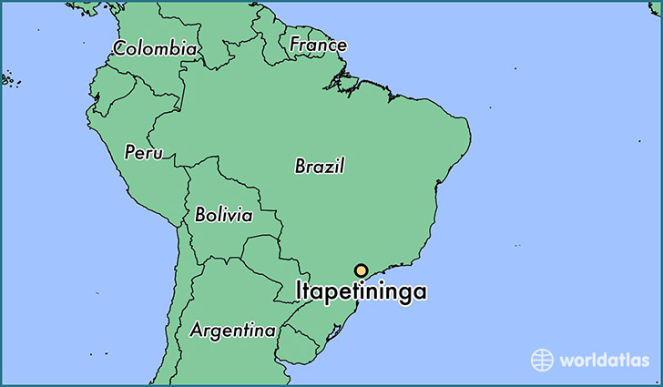 map showing the location of Itapetininga