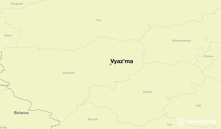 map showing the location of Vyaz'ma