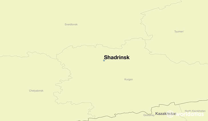 map showing the location of Shadrinsk