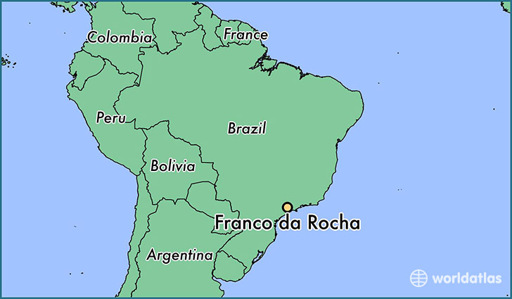 map showing the location of Franco da Rocha