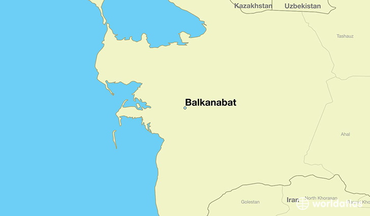 Where is Balkanabat Turkmenistan Balkanabat Balkan Map