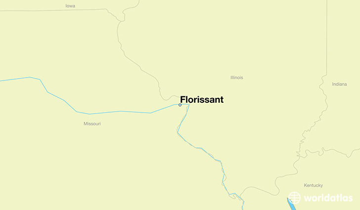 Where is Florissant MO Florissant Missouri Map WorldAtlascom