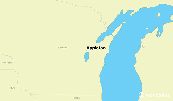 Where is Appleton WI Appleton Wisconsin Map WorldAtlascom