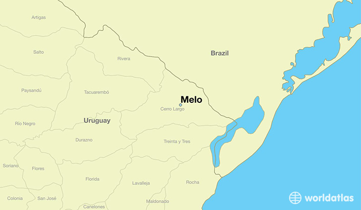 map showing the location of Melo