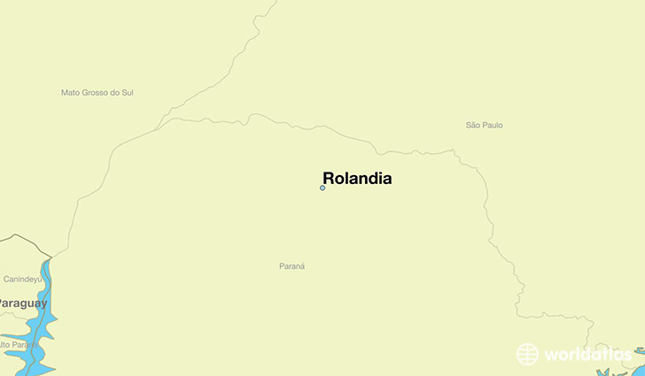 map showing the location of Rolandia