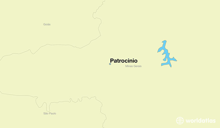 map showing the location of Patrocinio