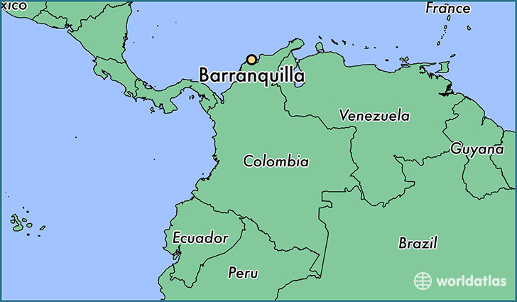 Image result for Barranquilla map