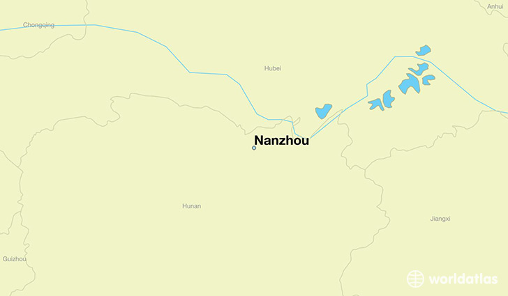 map showing the location of Nanzhou