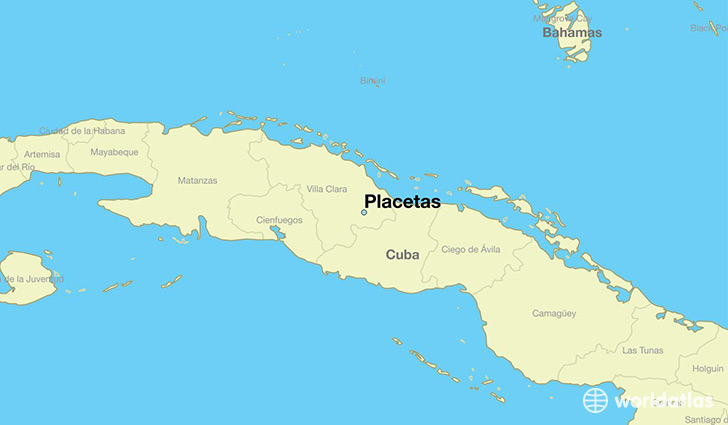 map showing the location of Placetas
