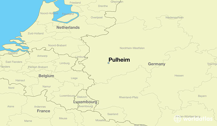 map showing the location of Pulheim